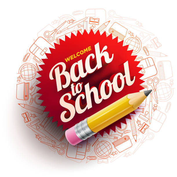 back to school design - back to school stock illustrations, clip art, cartoons, & icons
