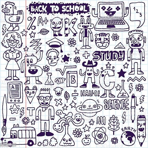 Back to school doodle set vector illustration hand drawn vector id471968422?b=1&k=6&m=471968422&s=612x612&h=chcnvkpzrzp9kssilhm feda05 dchhqvprfubgwzk4=