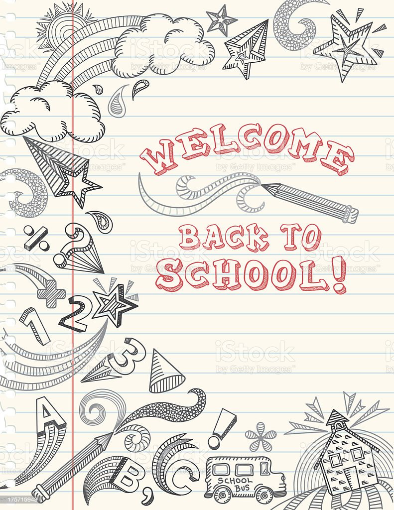 Back to School Doodle vector art illustration