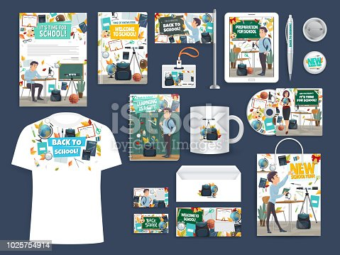 Back to School education and study promo mockups