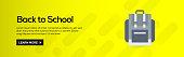 Back to School Flat Web Banner