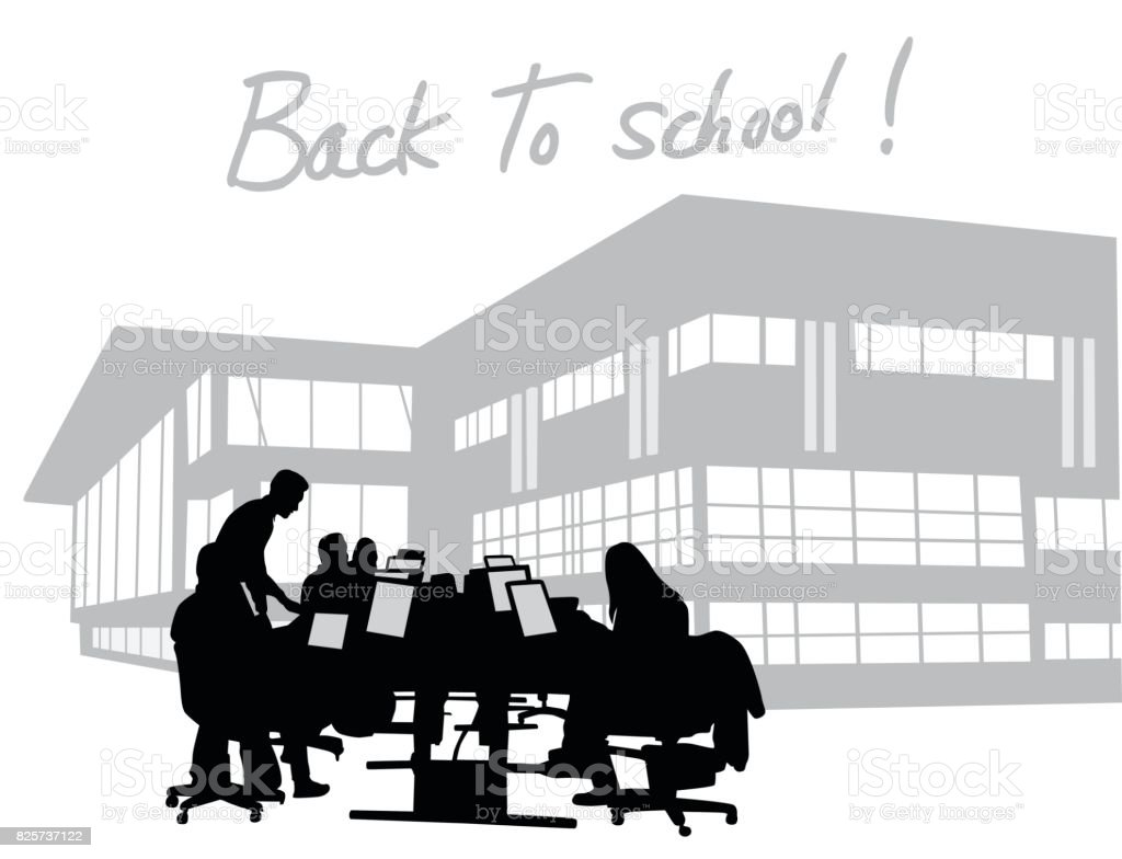 Back To School Focus vector art illustration