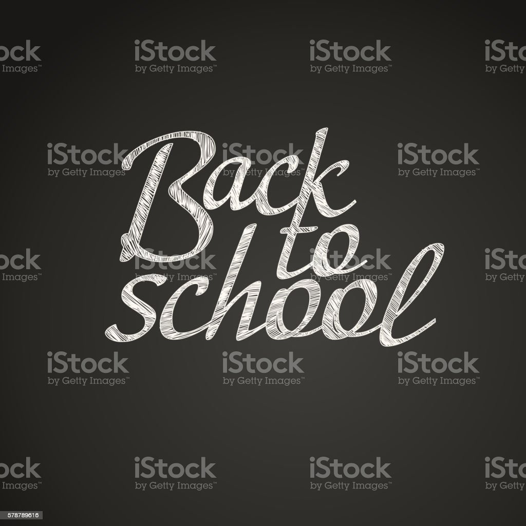 Back to school greeting card. Back to school calligraphic vector...