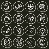 Vector File of Back to School Icon Set