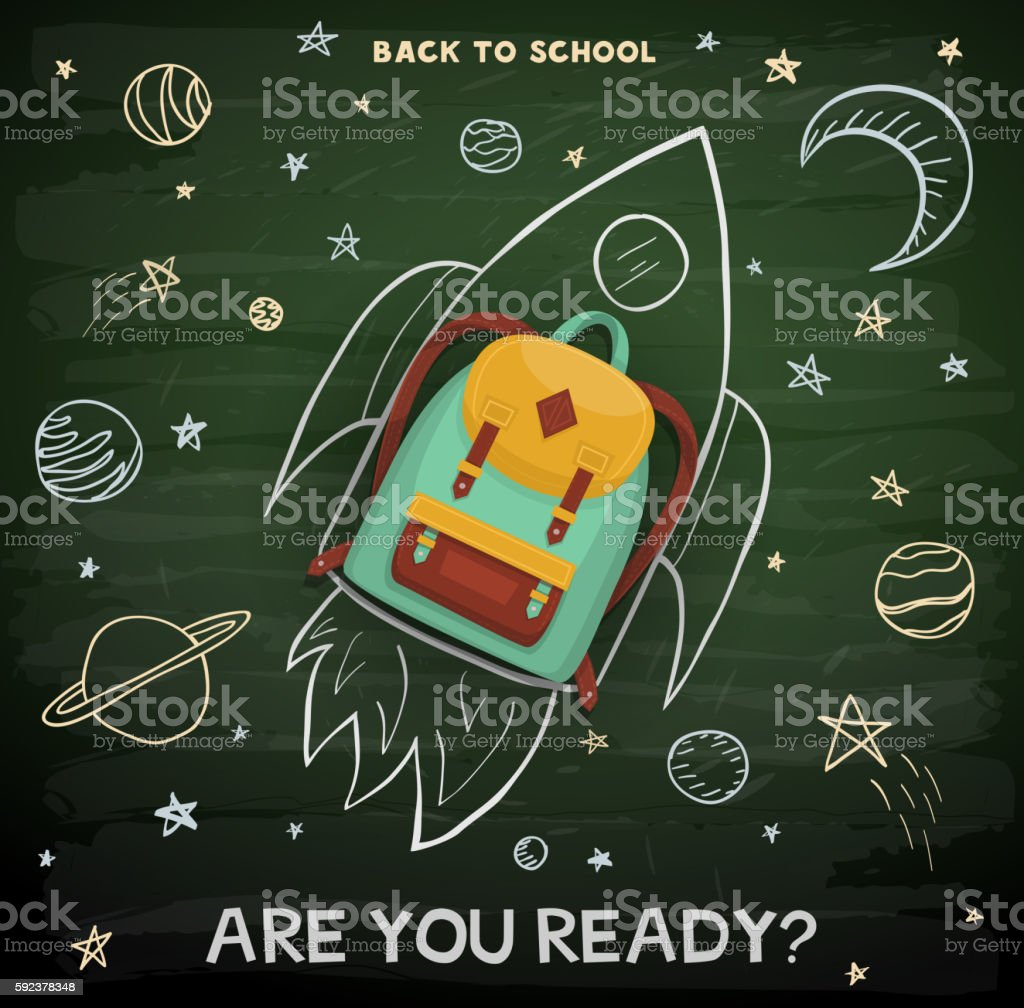 Back to school illustration vector art illustration