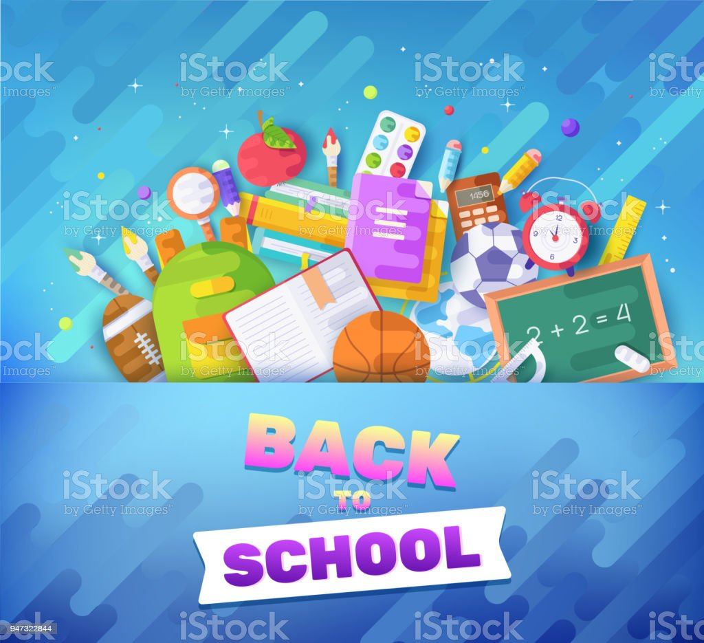 back to school information cards set student template of flyear
