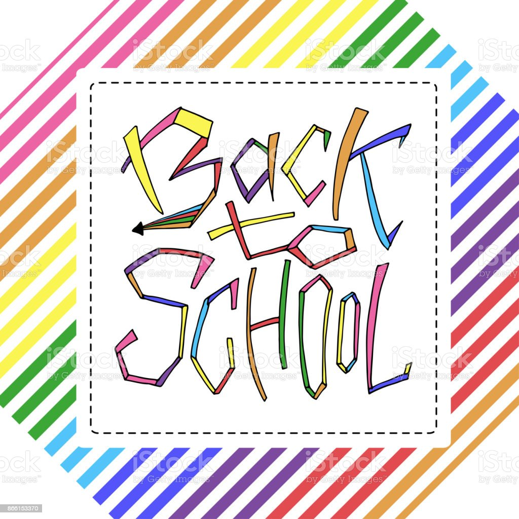 Back to school isolated text in rainbow frame lettering design for back to school isolated text in rainbow frame lettering design for icon greeting m4hsunfo