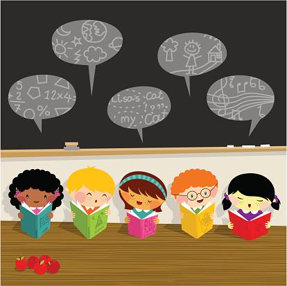 Back to school, kids, learn, library schoolboy schoolgirl