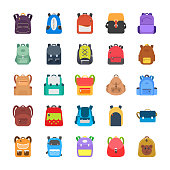 A pack displaying elegantly designed backpacks, rucksacks,  knapsacks, luggage bags and office compact portfolio bags. Each icon is different to the other and giving new concept to evert new bag. These bags are shaped in teddy bears, mouse, frog, flowers and much more. Have this pack and use in it the related projects.