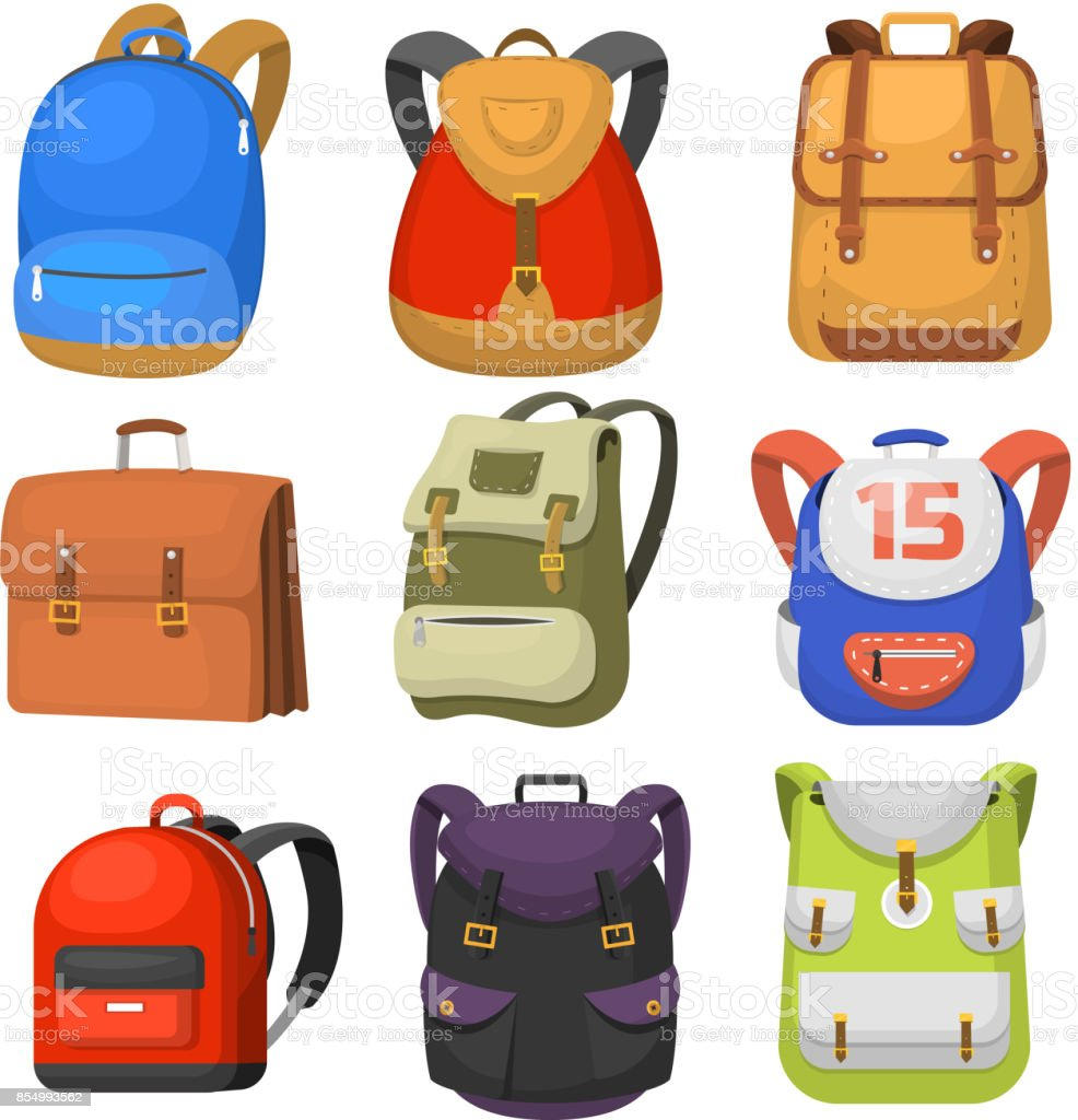 Back to School kids school backpack vector illustration векторная иллюстрация