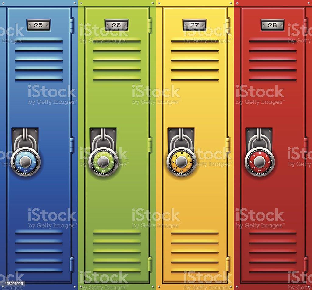 Back to School Lockers vector art illustration