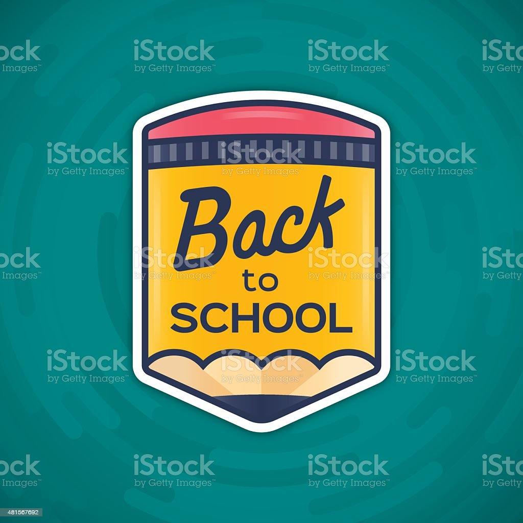 Voltar para a escola mensagem - ilustração de arte em vetor