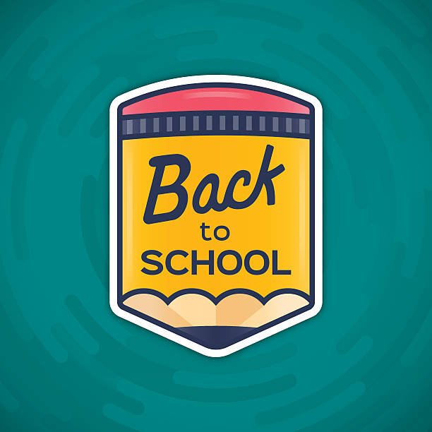 back to school message - back to school stock illustrations, clip art, cartoons, & icons