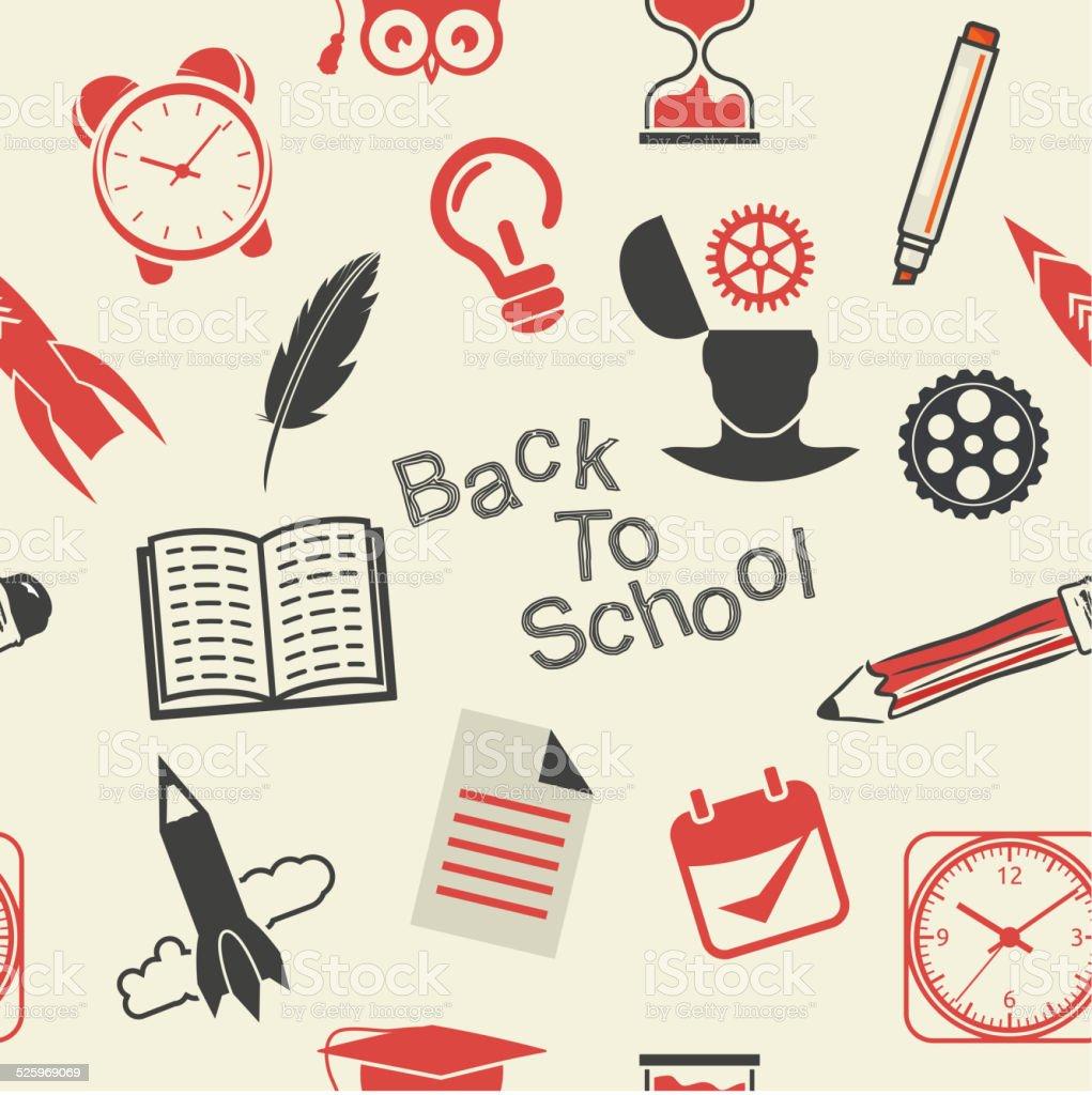 Back to School pattern vector art illustration