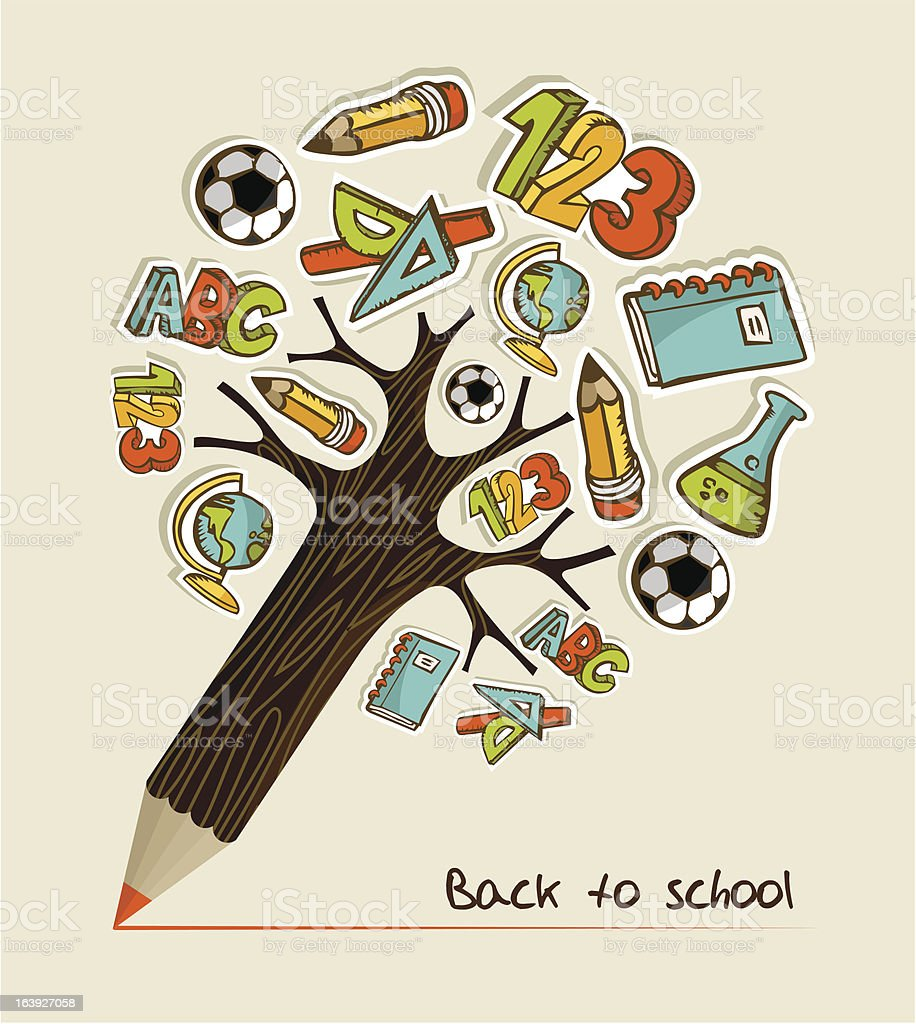 Back to School pencil tree royalty-free back to school pencil tree stock vector art & more images of back to school