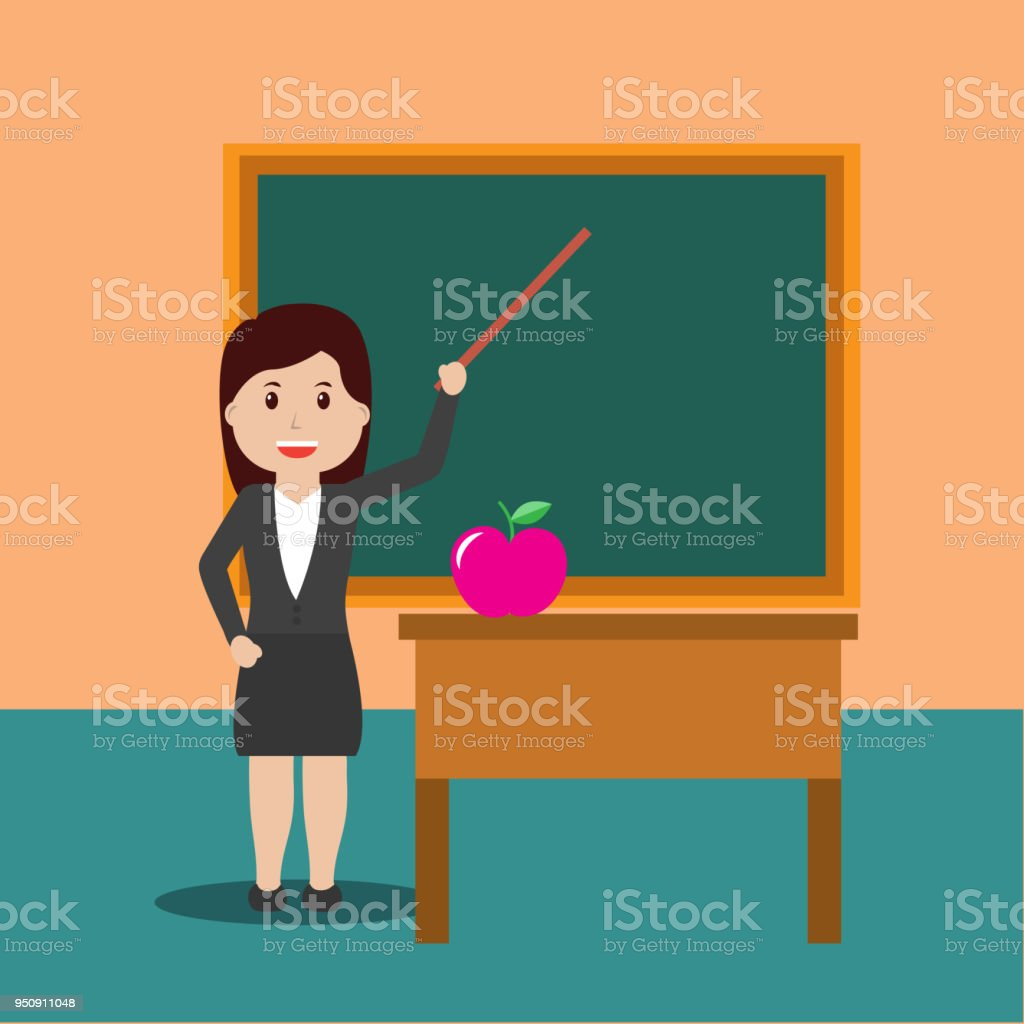 back to school people vector art illustration