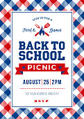 Back to School Picnic Invitation Template - Illustration