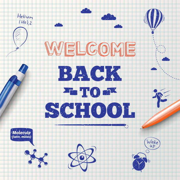 illustrations, cliparts, dessins animés et icônes de back to school poster, education background. - rentrée scolaire