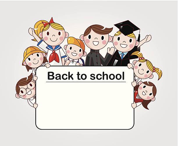 zurück to school - schultischrenovierung stock-grafiken, -clipart, -cartoons und -symbole