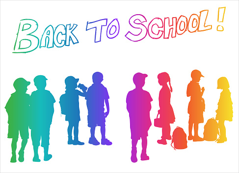 Back To School Rainbow Silhouettes