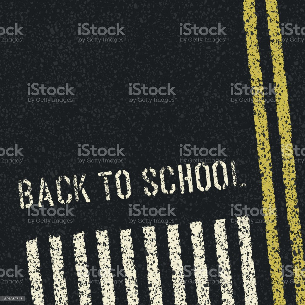 Back to school. Road safety concept. Vector, EPS8 vector art illustration