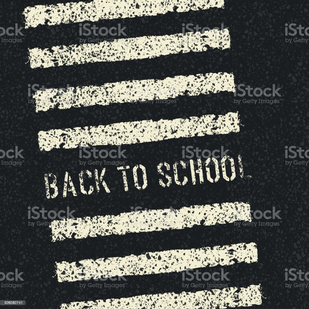 Back to school. Road safety concept. Vector. vector art illustration