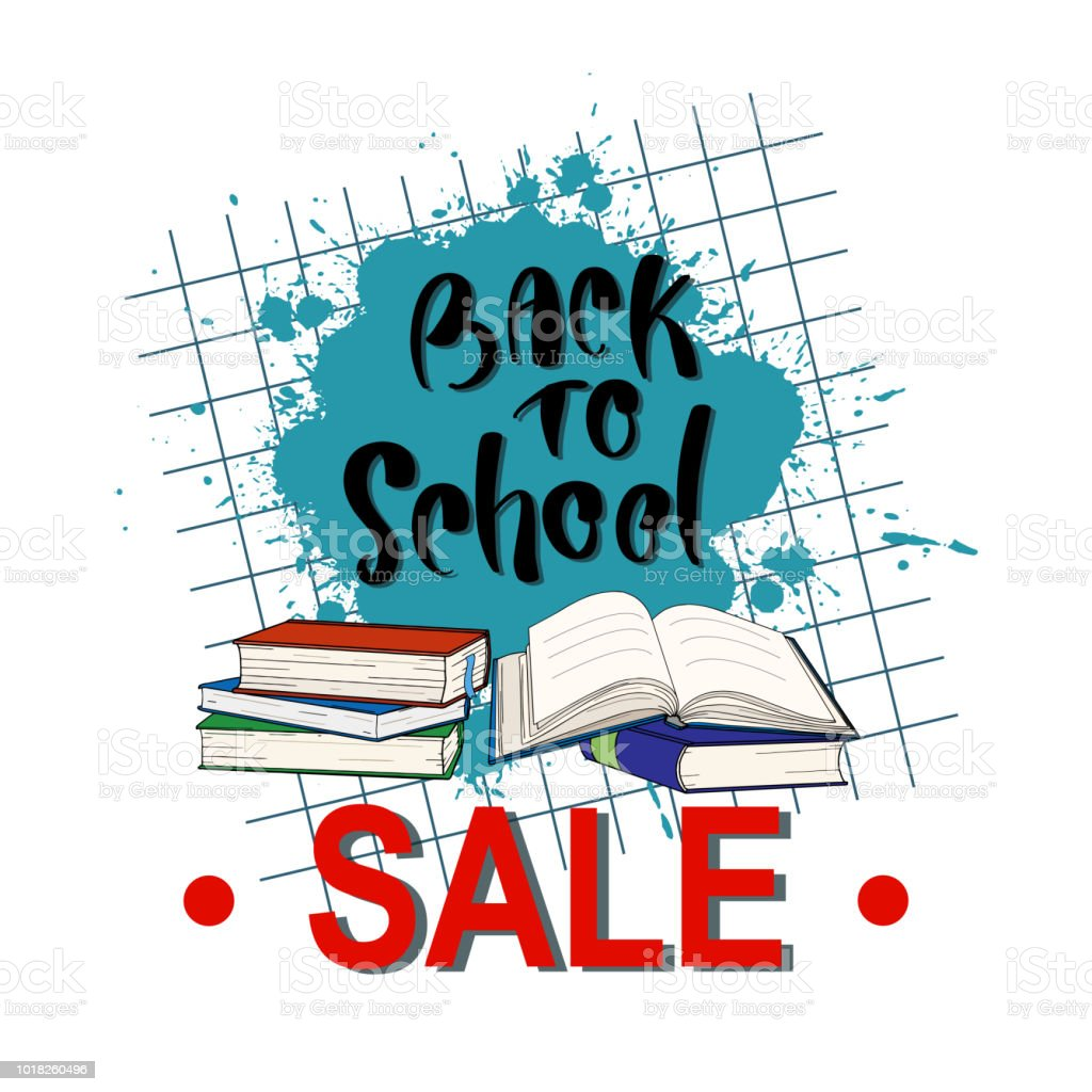 Back To School Sale Banner Design For Store Discount