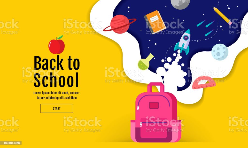 back to school sale banner, poster, flat design colorful, vector royalty-free back to school sale banner poster flat design colorful vector stock illustration - download image now