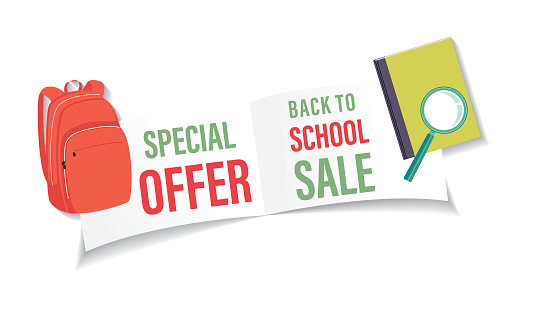 Back To School Sale Banner Sticker