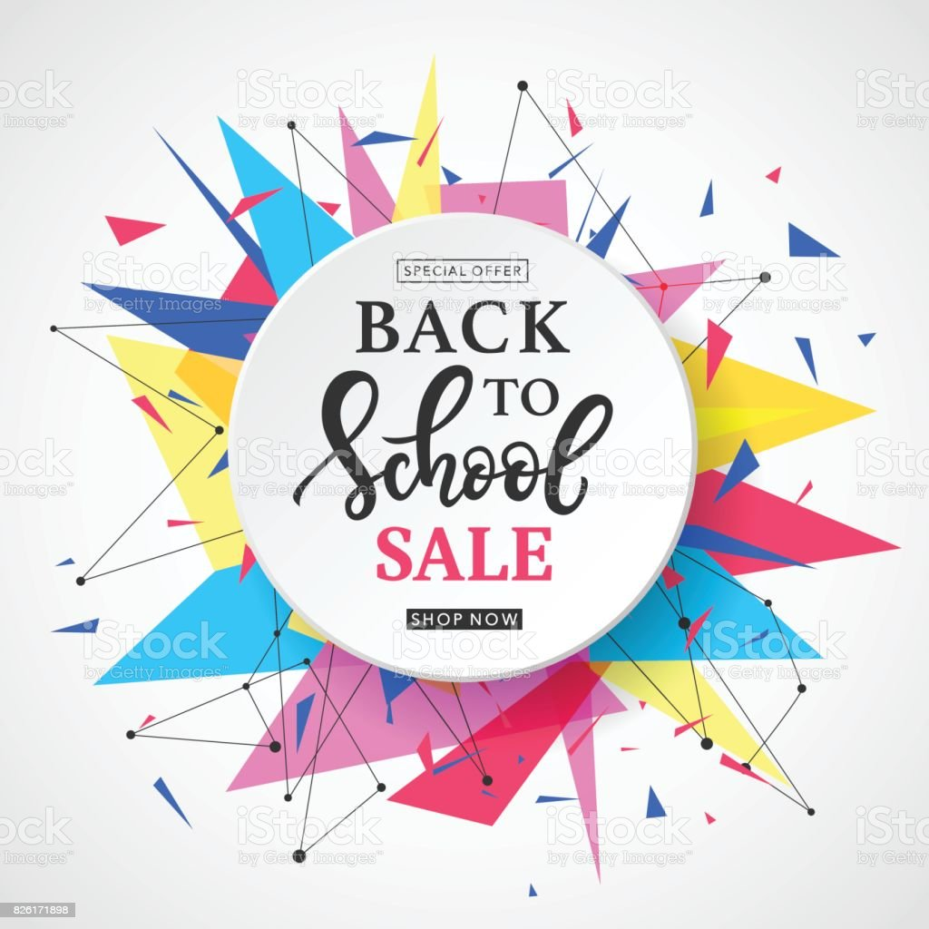 Back to School Sale Banner Template vector art illustration