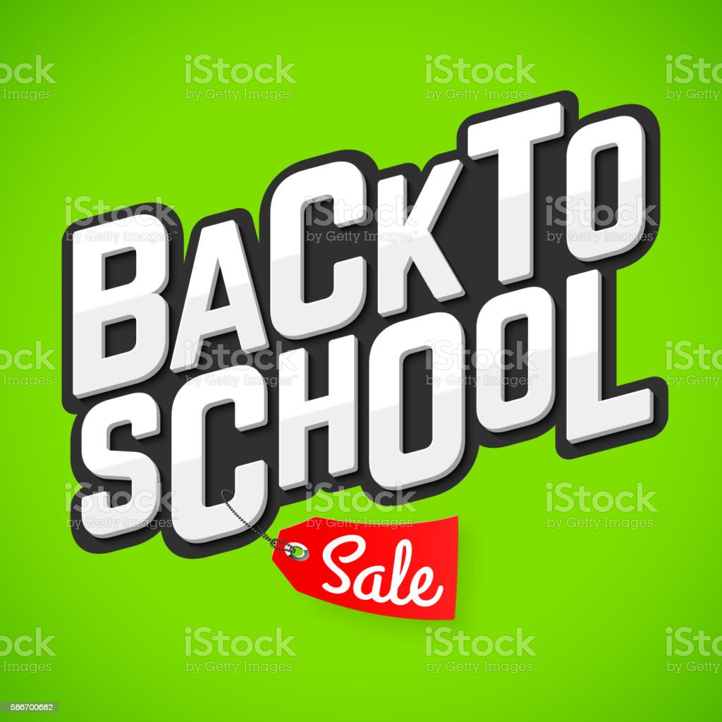 Back to School Sale banner vector art illustration