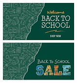 Back to school sale banner - Illustration