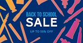 Back to school sale banner - Illustration