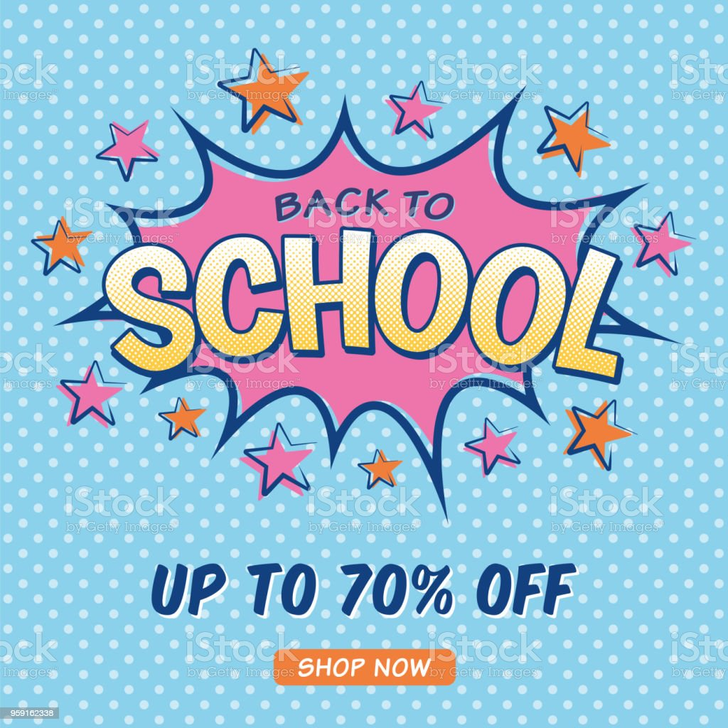back to school sale design for advertising banners leaflets and flyers royalty free