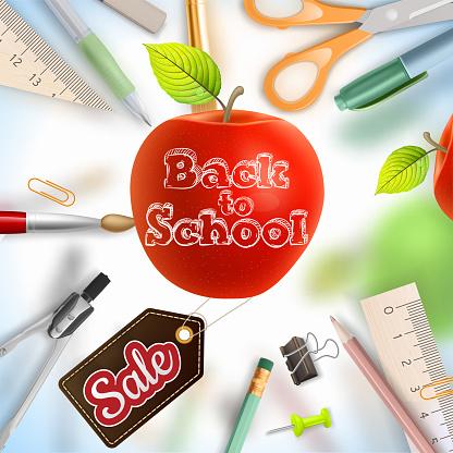 Back to school Sale. EPS 10