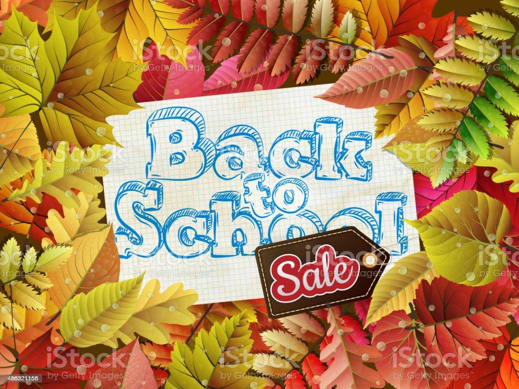Back to School Sale. EPS 10 vector art illustration