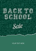 Back to school sale poster - Illustration