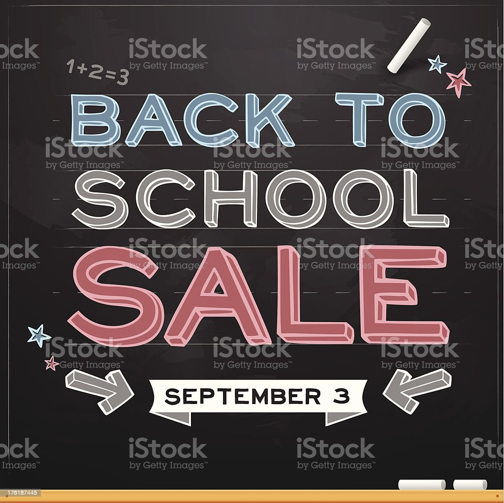 Back to School Sale royalty-free back to school sale stock vector art & more images of back to school