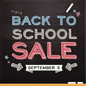 Back to school sale concept. EPS 10 file. Transparency effects used on highlight elements.