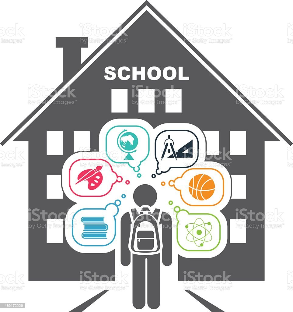 Back to school. School days. vector art illustration