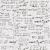 Back to School science drawings education chalkboard seamless pattern background.