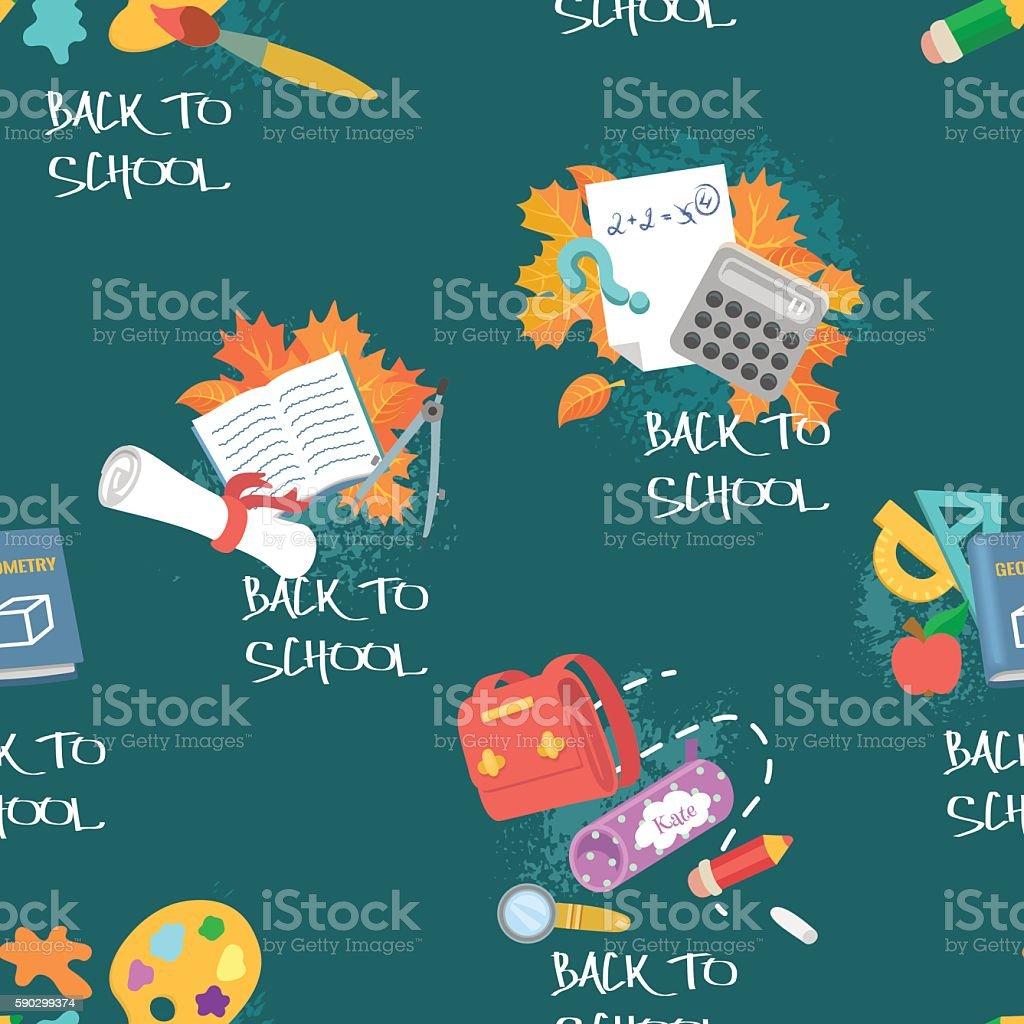 Back to school. Seamless pattern on education theme back to school seamless pattern on education theme — стоковая векторная графика и другие изображения на тему Бессмысленный рисунок Стоковая фотография