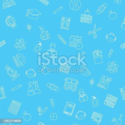 istock Back To School Seamless Pattern 1262315659