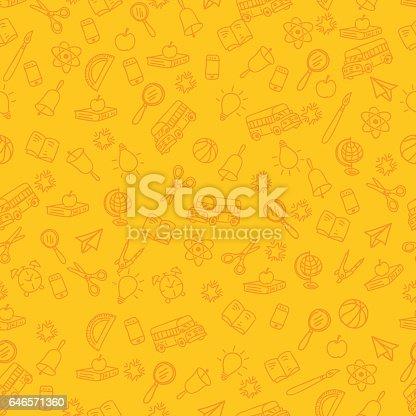 istock Back To School Seamless Pattern 646571360