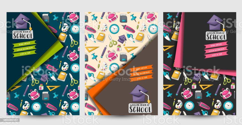 Back To School Set Of Flyers Printable Brochure Template Vector