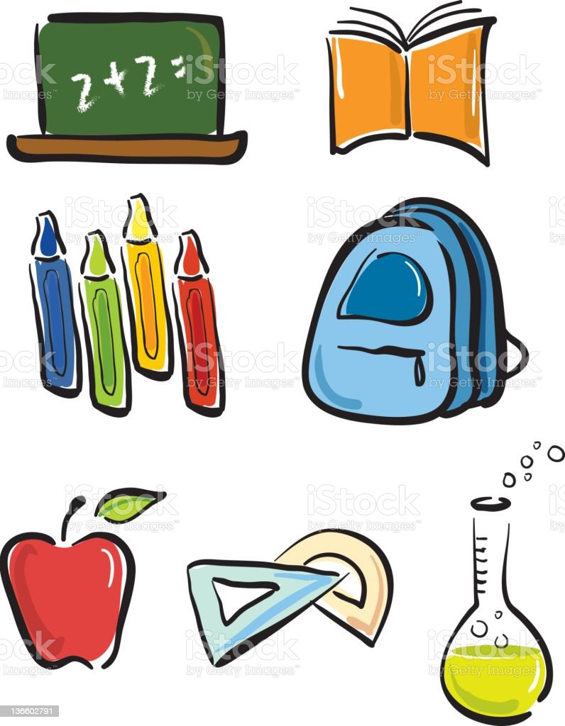 back to school set royalty-free stock vector art