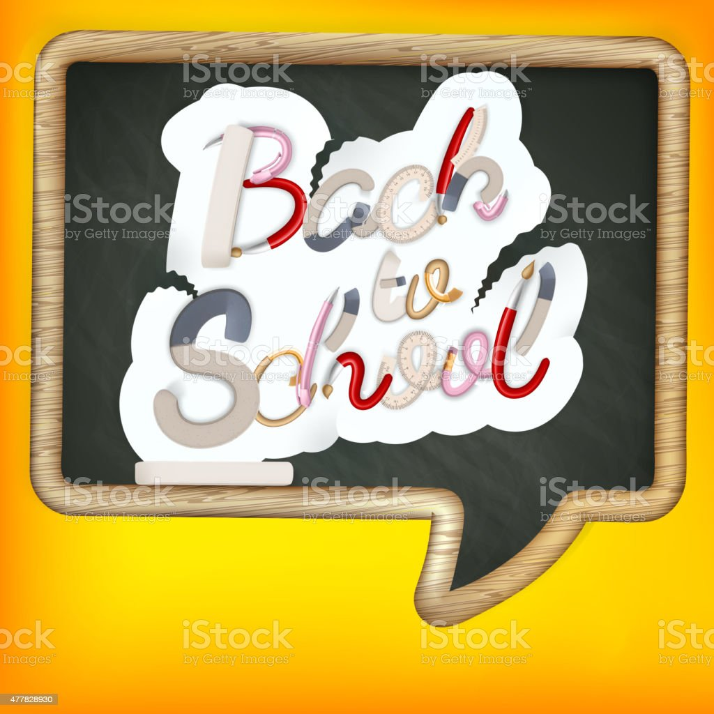 Back to school sign. EPS 10 vector art illustration