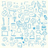 istock Back to school sketch elements 587528504
