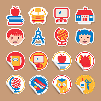 Back to School - stickers set