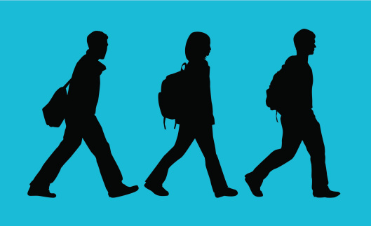 Back to School Students ( Vector )